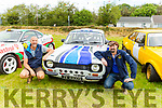 Michael Dowling and Maurice McElligott pictured with Michael Dowlings car at the Abbeydorney Vintage Family fun day on Sunday.