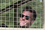 07.01.2019, Broederstroom, Johannesburg, RSA, TL Werder Bremen Johannesburg Tag 05 - Besuch Lion and Safari Park<br /> <br /> im Bild / picture shows <br /> <br /> Sebastian Langkamp (Werder Bremen #15) hinter Gittern ....<br /> Foto © nordphoto / Kokenge