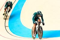 Picture by Alex Whitehead/SWpix.com - 09/12/2017 - Cycling - UCI Track Cycling World Cup Santiago - Velódromo de Peñalolén, Santiago, Chile - Dream Seeker's Yoshitaku Nagasako, Yudai Nitta and Tomohiro Fukaya compete in the Men's Team Sprint qualifying.