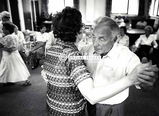 Elderly tea dance, Nottingham UK 1997