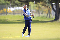 Gonzalo Fdez-Castano (ESP) on the 1st fairway during Round 3 of the Betfred British Masters 2019 at Hillside Golf Club, Southport, Lancashire, England. 11/05/19<br /> <br /> Picture: Thos Caffrey / Golffile<br /> <br /> All photos usage must carry mandatory copyright credit (&copy; Golffile | Thos Caffrey