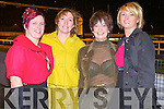 BEST DRESSED LADIES: Taking part in the Tarbert Comprehensive School Night at the Dogs Best Dressed Lady competition at the Kingdom Greyhound Stadium on Saturday l-r: Marie Carty and Theresa Grimes, Listowel, Noelle McGibney, Tarbert and Siobhan Dowling, Listowel.