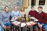 Special Birthday : John O'Connell, Knocknagoshel celebrating a special birthday with his family at Behan's Horseshoe Bar & Restaurant, Listowel on Saturday night last. L-R: Sean, John, Eileen, Darragh & Brendan O'Connell.
