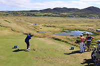 Mark Foster (ENG) tees off the par3 7th tee during Friday's Round 2 of the 2018 Dubai Duty Free Irish Open, held at Ballyliffin Golf Club, Ireland. 6th July 2018.<br /> Picture: Eoin Clarke | Golffile<br /> <br /> <br /> All photos usage must carry mandatory copyright credit (&copy; Golffile | Eoin Clarke)