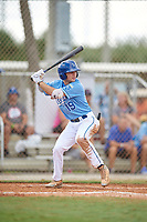 Nathan Chester (19) during the WWBA World Championship at the Roger Dean Complex on October 10, 2019 in Jupiter, Florida.  Nathan Chester attends Liberty North High School in Liberty, MO and is committed to Missouri.  (Mike Janes/Four Seam Images)