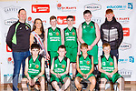 The Rathmore Ravens team that played St Mary's in the u14 Boys final on Monday front row l-r: Brian Murphy, John Hughes, Shane Daly, Denis O'Brien, Back row: Arthur Moynihan, James Twomey, Padraig Moynihan, Michael TAlbot and James Darmody