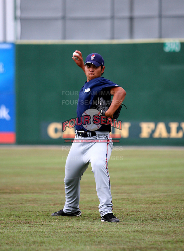 Sung-Wei Tseng / Kinston Indians..Photo by:  Bill Mitchell/Four Seam Images