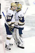 Kevin Lind (Notre Dame - 25), Mike Johnson (Notre Dame - 32) - The University of Notre Dame Fighting Irish defeated the University of New Hampshire Wildcats 2-1 in the NCAA Northeast Regional Final on Sunday, March 27, 2011, at Verizon Wireless Arena in Manchester, New Hampshire.