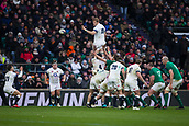 17th March 2018, Twickenham, London, England; NatWest Six Nations rugby, England versus Ireland; Joe Launchbury wins the line out and passes the ball to Danny Care of England