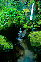 738600030 moss covered boulders frame elowah falls in the columbia river gorge national scenic area in northwest oregon