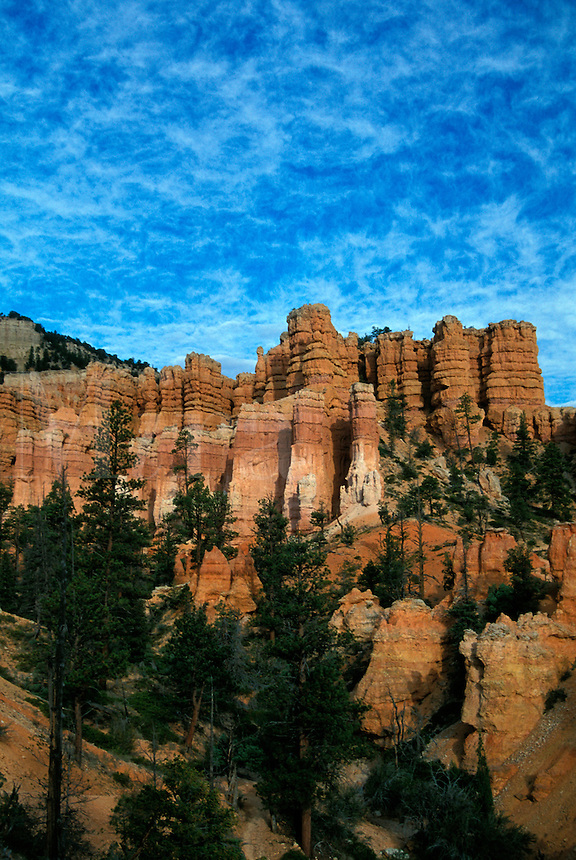 Hoodoo Sandstone Formations along Fairyland Canyon Trail at Bryce Canyon National Park, Utah.