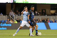 San Jose, CA - Saturday September 15, 2018: Anibal Godoy during a Major League Soccer (MLS) match between the San Jose Earthquakes and Sporting Kansas City at Avaya Stadium.