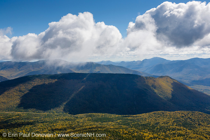 Owls Head and the Pemigewasset Wilderness from the Franconia Ridge Trail (Appalachian Trail), near Little Haystack Mountain, in the White Mountains of New Hampshire during the last days of summer. This forest was logged during the East Branch & Lincoln Railroad era (1893-1948).