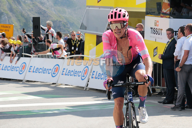 Rigoberto Uran (COL) EF Education First crosses the finish line in 7th place atop the Col du Tourmalet at the end of Stage 14 of the 2019 Tour de France running 117.5km from Tarbes to Tourmalet Bareges, France. 20th July 2019.<br /> Picture: Colin Flockton | Cyclefile<br /> All photos usage must carry mandatory copyright credit (© Cyclefile | Colin Flockton)