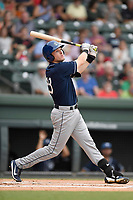 Third baseman Tyler Nevin (23) of the Asheville Tourists bats in a game against the Greenville Drive on Wednesday, August 2, 2017, at Fluor Field at the West End in Greenville, South Carolina. Greenville won, 1-0. (Tom Priddy/Four Seam Images)