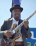 Little Smokey Smothers, 9/24/00.San Francisco Blues Festival. Chicago Blues guitarist and singer. Played and recorded with Howlin' Wolf. Founding member of Paul Butterfield Blues Band, replaced by Elvin Bishop