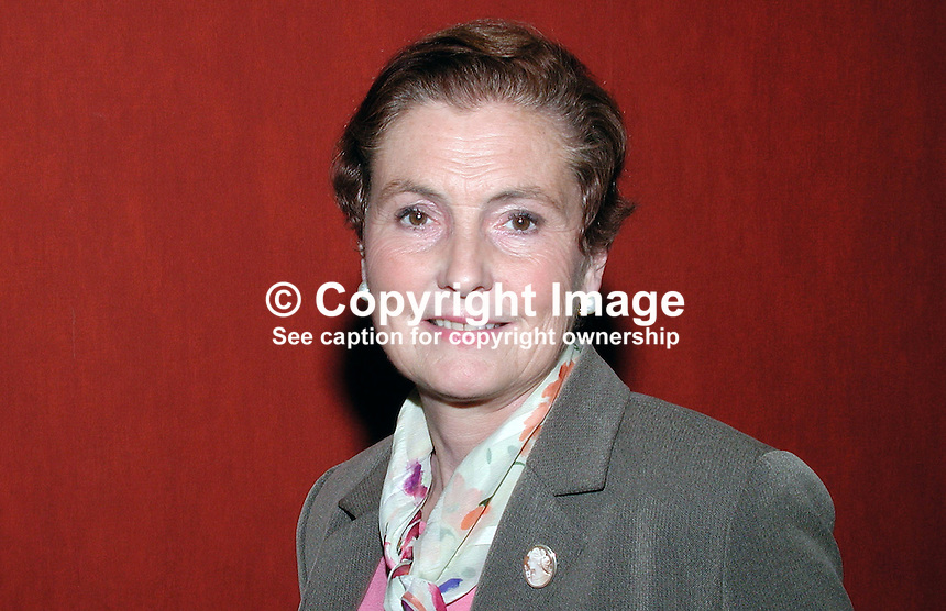 Clare Gibson, member, N Ireland Civic Forum. Formerly managing director of Abbey Training Services Ltd. Ref: 2001021857. Taken Feb 21, 2001<br />