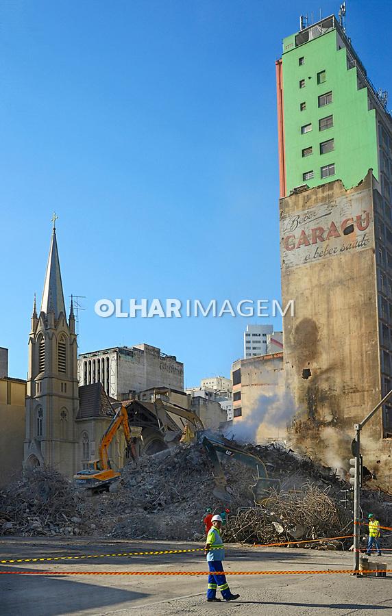 Desabamento do Edificio Wilton Paes de Almeida, Sao Paulo. 2018. Foto de Juca Martins.