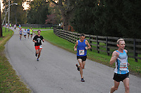 Start of the 2012 Iron Horse Half Marathon, Midway, Kentucky  October 14, 2012<br />