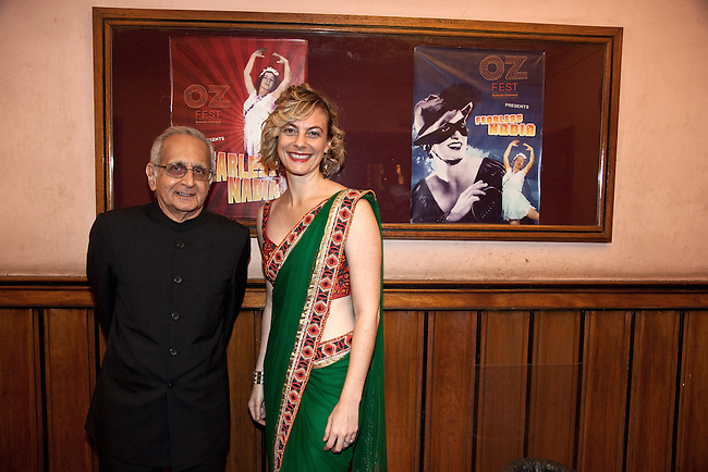 "21 November 2012: Kate Ben-Tovim and Nazir Hoosein owner of the Liberty Theatre arrive  to felicitate Indian cinema legend Amitabh Bachchan at the premiere of ""Fearless Nadia"" , a feature film celebrating the exploits of Perth born Mary Ann Evans who gained fame as a film star heroine in India in 1920's Bombay as Fearless Nadia; an Indian film actress and stuntwoman, who is remembered as the masked, cloaked adventuress in Hunterwali, an early female lead. The film is scored by a big band led by Ben Walsh in front of a live audience. Pictures  by Graham Crouch/OzFest."