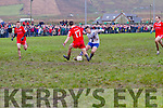 Stuck in the Mud St Marys Daniel Daly and Watervilles Fionán Clifford clash of boots at the South Kerry Championship Final in Portmagee on St Stephens Day.