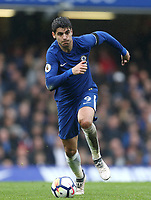 Chelsea's Alvaro Morata<br /> <br /> Photographer Rob Newell/CameraSport<br /> <br /> The Premier League - Chelsea v West Ham United - Sunday 8th April 2018 - Stamford Bridge - London<br /> <br /> World Copyright &copy; 2018 CameraSport. All rights reserved. 43 Linden Ave. Countesthorpe. Leicester. England. LE8 5PG - Tel: +44 (0) 116 277 4147 - admin@camerasport.com - www.camerasport.com