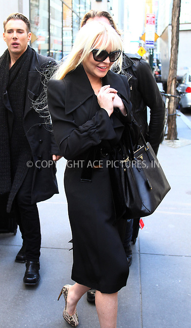 WWW.ACEPIXS.COM . . . . .  ....February 28 2012, New York City....Actress Lindsay Lohan leaves a midtown building on February 28 2012 in New York City....Please byline: CURTIS MEANS - ACE PICTURES.... *** ***..Ace Pictures, Inc:  ..Philip Vaughan (212) 243-8787 or (646) 769 0430..e-mail: info@acepixs.com..web: http://www.acepixs.com