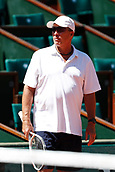 May 25th Roland Garros, paris, France; French Open tennis championships; Ivan Lendl practises with Andy Murray;  Coach Ivan Lendl