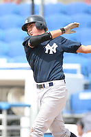 August 13, 2008: Kyle Higashioka (25) of the GCL Yankees.  Photo by: Chris Proctor/Four Seam Images
