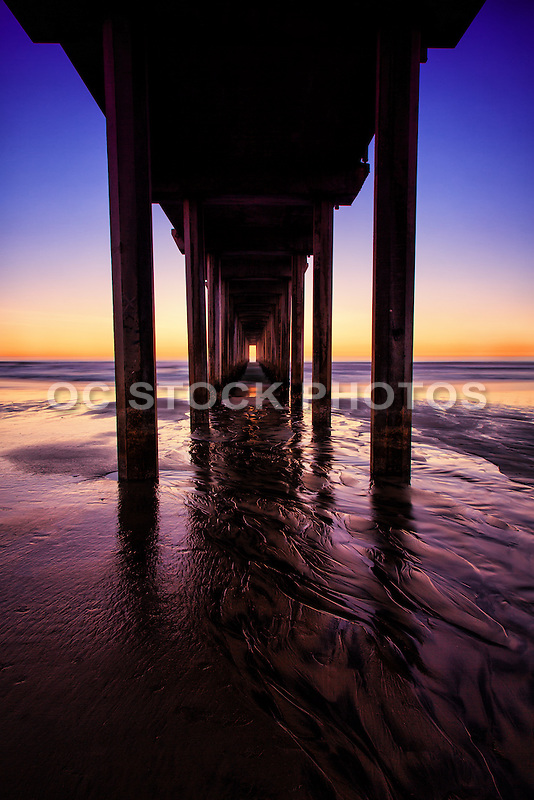 La Jolla Shores and Scripps Pier at Sunrise San Diego County California