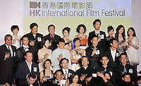 """HONG KONG - MARCH 22:  Cast members of """"Shinjuku Incident """" and """"Night and Fog"""" films attend the Opening Ceremony of the 33rd Hong Kong International Film Festival at the Hong Kong Convention and Exhibition Centre on March 22, 2009 in Hong Kong.  Photo by Victor Fraile / studioEAST"""