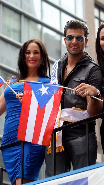 WWW.ACEPIXS.COM . . . . .  ....June 12 2011, New york City....Jencarlos Canela and Carmen Dominicci attends the 2011 National Puerto Rican Day Parade on June 12, 2011 in New York City. ....Please byline: NANCY RIVERA- ACEPIXS.COM.... *** ***..Ace Pictures, Inc:  ..Tel: 646 769 0430..e-mail: info@acepixs.com..web: http://www.acepixs.com