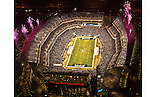 Aerial  view of Philadelphia Eagles vs Cleveland Browns at Lincoln Financial Field on December 15th 2008 Monday Night Game during Pregame Ceremony.<br /> 16x20 Poster Print only $19.99