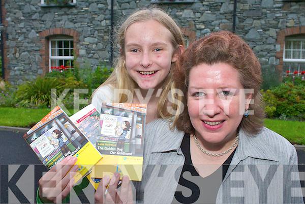 WORDSMITH: German author Ute Hacker (who goes under the pen name Luisa Hartmann) has written a childrens book The Golden Dog-Der Goldhund based around Muckross in Killarney, pictured with Liz Fuller from Killarney..