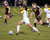 The University of Michigan women's soccer team beat Central Michigan in the opening round of NCAA play at UM Soccer Stadium in Ann Arbor, Mich., on November 10, 2012.
