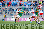 Ciarán O'Reilly Kerry in action against Sean McKeever Derry in the All-Ireland Minor Footballl Final in Croke Park on Sunday.