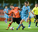19/08/2010   Copyright  Pic : James Stewart.sct_jsp018_dundee_utd_v_aek_athens  .:: DAVID GOODWILLIE IS BROUGHT DOWN BY MANOLAS KOMSTANTINOS :: .James Stewart Photography 19 Carronlea Drive, Falkirk. FK2 8DN      Vat Reg No. 607 6932 25.Telephone      : +44 (0)1324 570291 .Mobile              : +44 (0)7721 416997.E-mail  :  jim@jspa.co.uk.If you require further information then contact Jim Stewart on any of the numbers above.........
