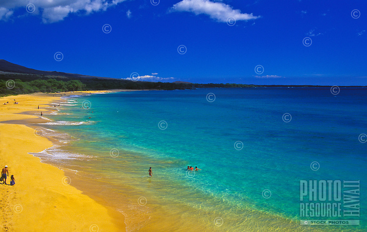 "Beautiful Makena """"big beach"""" on a sunny day, island of Maui"