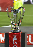 MLS trophy During post game trophy Celebration after MLS Cup 2010 at BMO Stadium in Toronto, Ontario on November 21 2010.