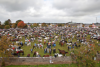 3/10/2010.  An overview of the crowded Fair Green at the Ballinasloe Horse Fair, Ballinasloe, County Galway, Ireland. Picture James Horan
