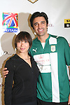 Cheryl Burke and Gilles Marini of Dancing with the Stars - at the Celebrity soccer game to benefit Hollywood United for Haiti at 1st Setanta Cup Soccer Festival on April 11, 2009 at Chelsea Pers, NYC. (Photo  by Sue Cofln/Max Photos)