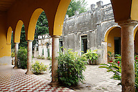 Interior patio of main building at Hacienda Yaxcopoil, Yucatan, Mexico.