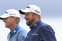 Steve Stricker (USA) and Shane Lowry (IRL) walk off the 7th tee during Saturday's Round 3 of the 117th U.S. Open Championship 2017 held at Erin Hills, Erin, Wisconsin, USA. 17th June 2017.<br /> Picture: Eoin Clarke | Golffile<br /> <br /> <br /> All photos usage must carry mandatory copyright credit (&copy; Golffile | Eoin Clarke)