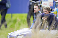 Graeme McDowell (Team Europe Vice-Captain) on the 6th during the friday fourballs at the Ryder Cup, Le Golf National, Iles-de-France, France. 27/09/2018.<br /> Picture Fran Caffrey / Golffile.ie<br /> <br /> All photo usage must carry mandatory copyright credit (© Golffile | Fran Caffrey)