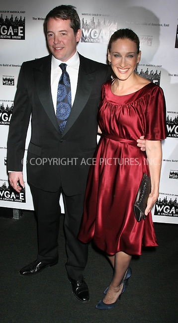 WWW.ACEPIXS.COM . . .  ....February 11, 2007, New York City.....Matthew Broderick and Sarah Jessica Parker attend the 59th Annual Writers Guild Awards at the Hudson Theater.....Please byline: JOHN WARD - ACEPIXS.COM......Ace Pictures, Inc:  ..(212) 243-8787 or 646 769 0430..e-mail: info@acepixs.com..web: http://www.acepixs.com