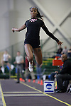 12 MAR 2011: Skye Morrison of Wartburg College triple jumps during the Division III Men's and Women's Indoor Track and Field Championships held at the Capital Center Fieldhouse on the Capital University campus in Columbus, OH.  Jay LaPrete/NCAA Photos