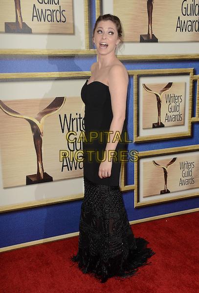 13 February  - Los Angeles, Ca - Rachel Bloom. Arrivals for the 2016 Writer's Guild Awards held at Hyatt Regency Century Plaza.  <br /> CAP/ADM/BT<br /> &copy;BT/ADM/Capital Pictures