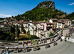 The peloton led by Team Sky and race leader Geraint Thomas (WAL) Yellow Jersey during Stage 13 of the 2018 Tour de France running 169.5km from Bourg d'Oisans to Valence, France. 20th July 2018. <br /> Picture: ASO/Alex Broadway | Cyclefile<br /> All photos usage must carry mandatory copyright credit (© Cyclefile | ASO/Alex Broadway)