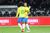 27th March 2018, Olympiastadion, Berlin, Germany; International Football Friendly, Germany versus Brazil; Célébration for the Goal from Gabriel Jésus (Brazil)