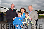 David Lynch, Gearoid Mulvhill, Donal Lynch, Carmel Lynch and PJ Hayes enjoying THE 'Friends Of Kerry General Hospital Benefit Night at the Kingdom Greyhound stadium on Friday